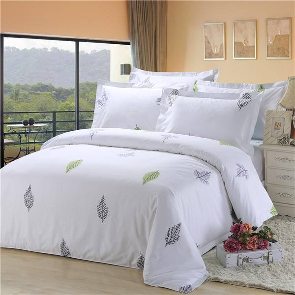 五星级酒店床上用品四件套定做 60支全棉贡缎印花 伊洛莎